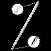 Termómetro de mercurio con escala de opal de -10 a 200ºC