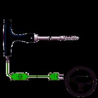 sonda termopar tipo k con mango en T y punta sacacorchos venta en Gesa