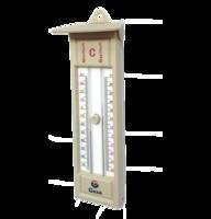 Termómetro de pared analógico para ambiente con registro de máxima y minima