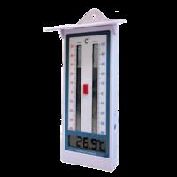 Termómetro digital de garita con función de máxima y mínima