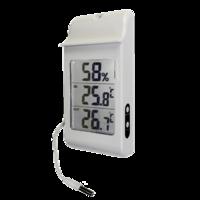 Termohigrómetro digital con sonda externa con registro de máxima y mínima