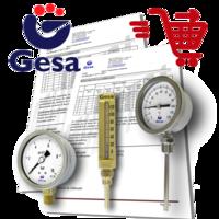 certificados para termometros y manometros emitidos por Gesa Termometros S.L.