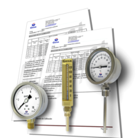 Certificat d'étalonnage de température et pression