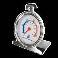 Termómetro para interior de horno en acero con escala de temperatura por color