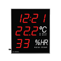 Wall mount Big Digital Thermometer-Hygrometer with Hour and Date