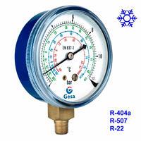 Manómetro de refrigeración o freón para aire acondicionado, cámaras frigorificas