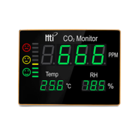 Medidor de CO2 digital de gran formato para pared
