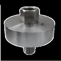 Separador de membrana soldado para manometro en acero inoxidable AISI 316
