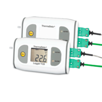 Data logger para altas temperaturas ThermaData con sonda termopar tipo K