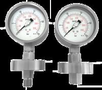 Manómetro con separador de membrana hasta 100 bar