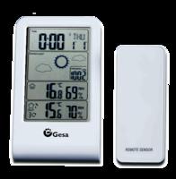 Estación meteorológica con sensor remoto para temperatura, humedad y barometro