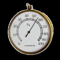 Higrómetro analógico  bimetálico con anilla rango 0 a 100%HR