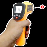 Termómetro de infrarrojos digital hasta 550ºC with adjustable emissivity