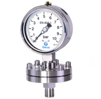 Manómetro con separador de membrana hasta 25 bar