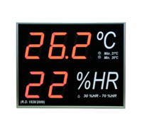 Wall mount Big Digital Thermometer-Hygrometer Standard Model with External Senso