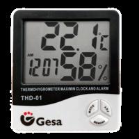 Higrómetro digital máxima y mínima con reloj y alarma