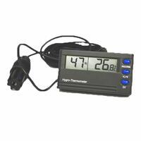 Higrómetro con alarma y función máxima y mínima