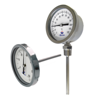 Bimetal dial thermometers in stainless steel D01