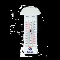 Termómetro de pared analógico para temperatura ambiente con registro de máxima