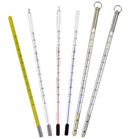 Solid Stem Glass Thermometers with protection sheath