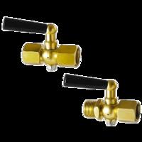 Válvula de bola portamanometros PN25