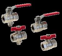 válvulas de bola con purgador para presiones nominales de 30 bar