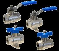 válvulas de bola con soporte en acero y presión nominal 60 bar