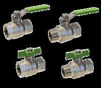 válvulas de bola en latón para presiones nominales de 40 bar