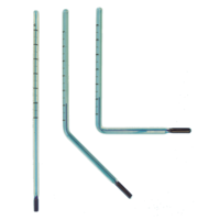Glass inserts for V-Shaped thermometers