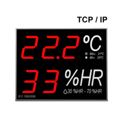 Termómetro-Higrómetro digital de gran formato para pared RD1826/2009 con interfa
