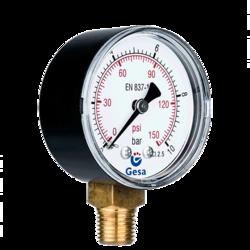 Manometro de aire comprimido para sistemas neumaticos y for Manometro para medir presion de agua