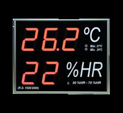 Termómetro-Higrómetro digital de gran formato para pared RD1826/2009 modelo está
