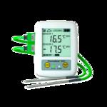 Data logger inalámbrico WiFi de -100 a 1372ºC de 2 canales termopares tipo K