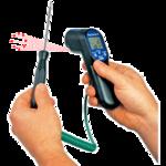 Termómetro infrarrojo con conector para sonda termopar hasta 1370ºC RAYTEMP 8
