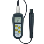 Termohigrómetro de alta precisión con indicador de punto de rocio y sonda externa