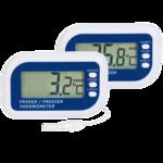 Digitales MAX/MIN-Thermometer mit Sonde und Alarm für Kühl- und Gefrierschrank