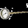 Termómetro bimetálico para hornos con vástago de latón D42