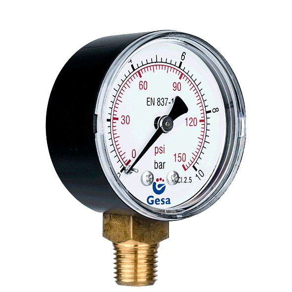 manometro de aire comprimido para sistemas neumaticos y