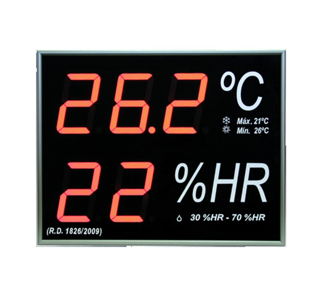 Term metro higr metro digital de gran formato para pared - Termometro de pared ...