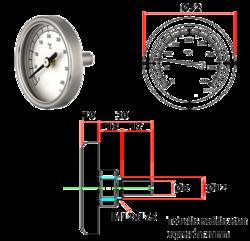termómetro para puertas de hornos pequeños y cocinas de hierro
