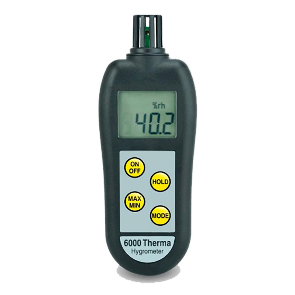 Termohigrómetro de alta precisión con indicador de punto de rocio